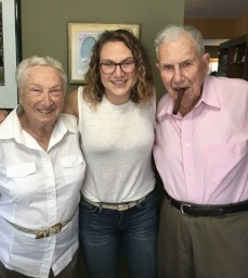Simma is very close to her grand parents
