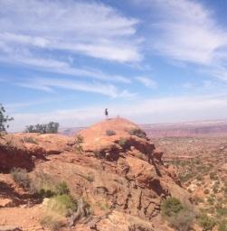 Simma enjoys hiking at the Grand Canyon