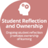 student reflection and ownership