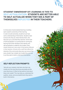 sample page of the white paper - diversity section, with an orange tree