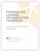 Personalized Learning Implementation Framework 2017