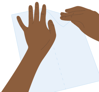 Hands folding plane step 1