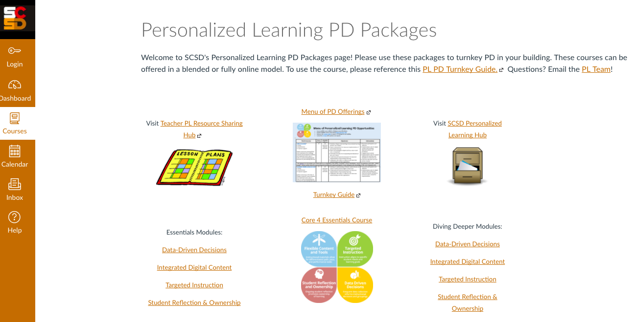 SCSD PD Packages