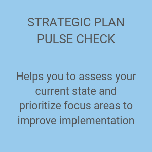 STRATEGIC PLAN PULSE CHECK