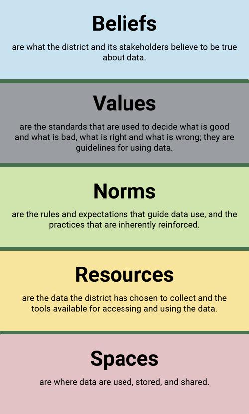 data culture beliefs values norms
