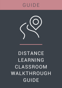 Distance Learning Classroom Walkthrough Guide Resource LP Cover