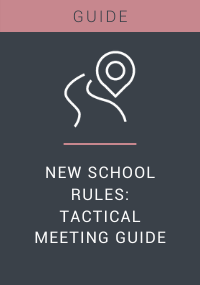New School Rules Tactical Meeting Guide Resource LP Cover