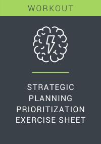 Strategic Planning Prioritization Exercise Sheet