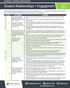 student relationships checklist preview