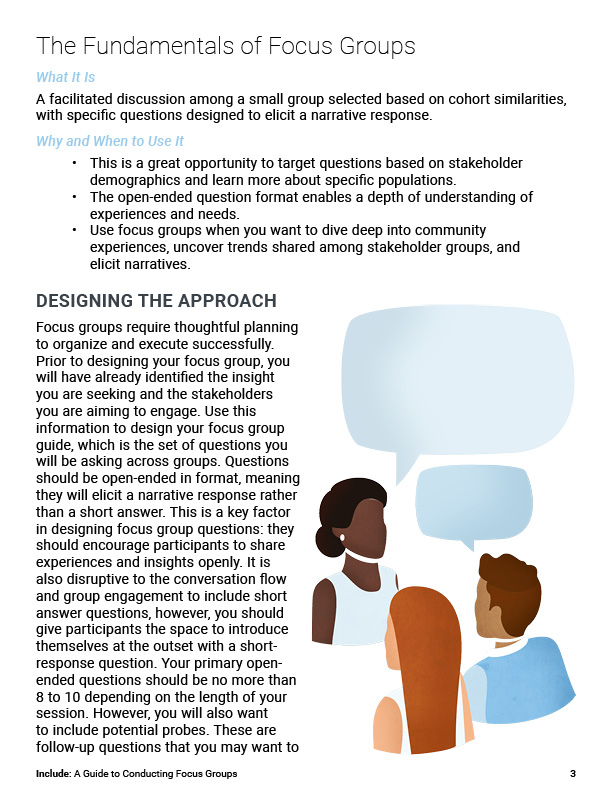 Include - A Guide to Conducting Focus Groups page 3