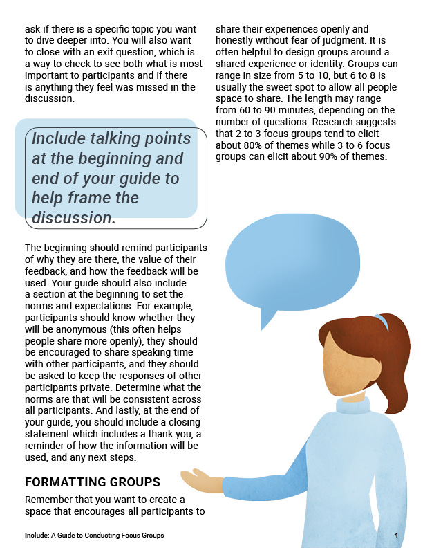 Include - A Guide to Conducting Focus Groups page 4