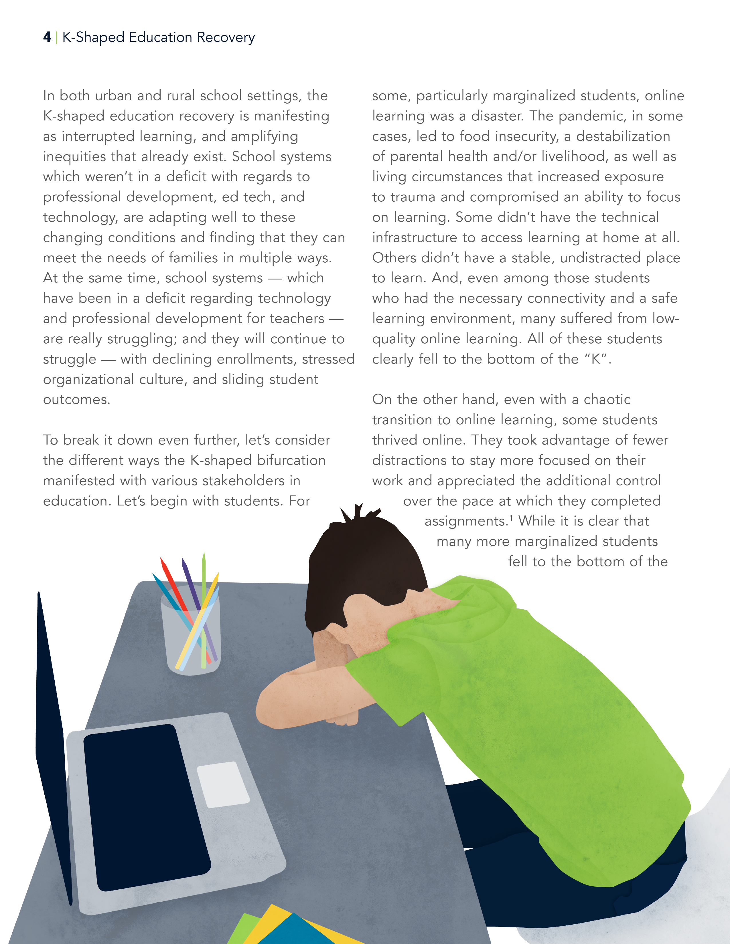K Shaped Education Recovery Guide page 4